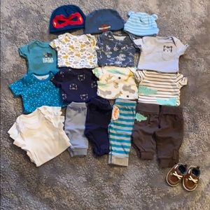 Newborn Baby Boy Lot.